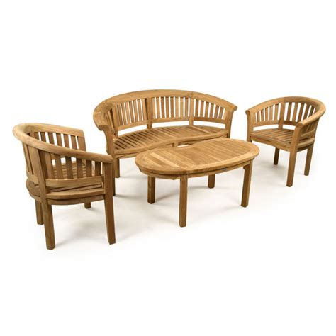 outdoor bench set teak garden bench set with coffee table armchairs
