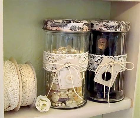 alyssabeths vintage shabby chic button jars