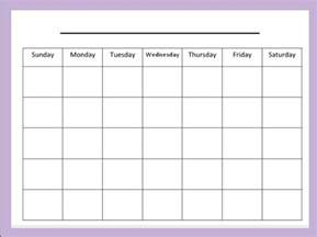 Blank Calendar Month Template by Blank Monthly Calendar Template