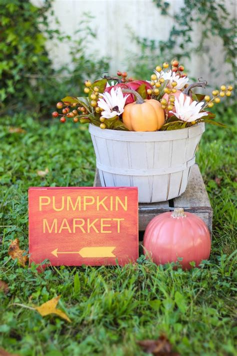 diy pumpkin market fall decor