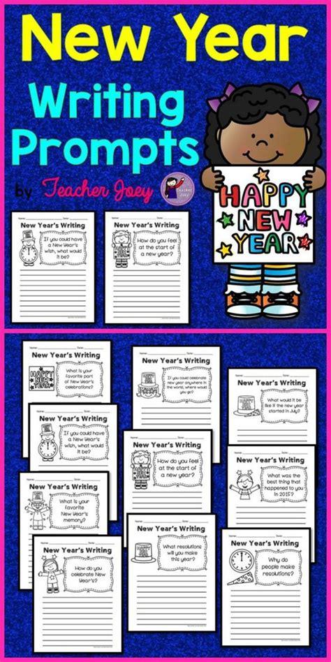 new year writing activities new years writing new year s writing prompts and writing