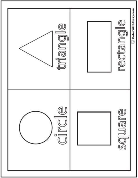coloring pages with shapes for preschool shape coloring pages customize and print