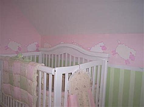 pink and green baby room counting sheep baby nursery theme