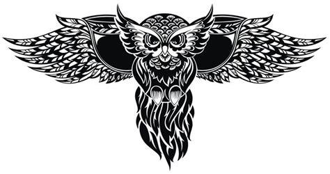 猫头鹰卡通动物纹身图案 素材公社 tooopen com
