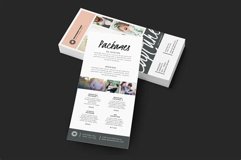 rack card template for adobe illustrator wedding photographer rack card template for photoshop