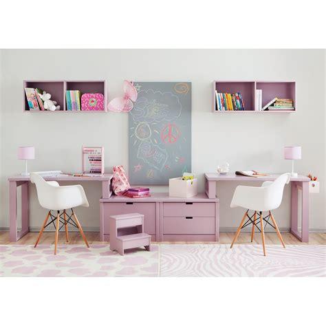 bureau enfant avec rangement bureau pour 2 enfants juniors avec caissons de