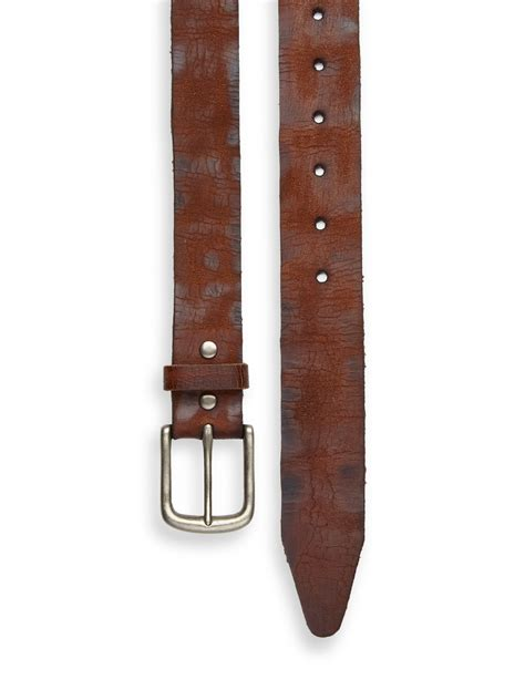 leather island by bill lavin distressed leather belt in