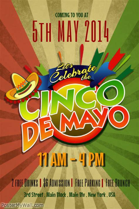 Cinco De Mayo Flyer Templates Postermywall Cinco De Mayo Template