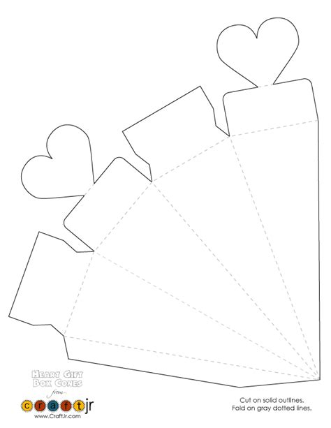 templates for gift boxes wedding favor valentine s day heart gift box cones heart