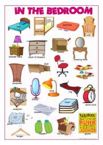 bedroom furniture vocabulary in the bedroom picture dictionary worksheet free esl