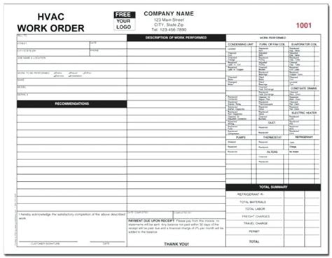 Hvac Invoices Template Royaleducation Info Hvac Template Pdf
