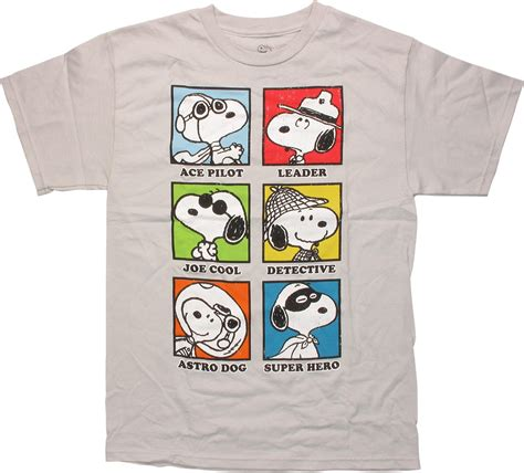 Dragon Ball Z Light Peanuts Snoopy Career Squares T Shirt
