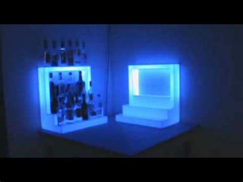 light up bar top custom light up bar bottle display with top shelf wmv youtube