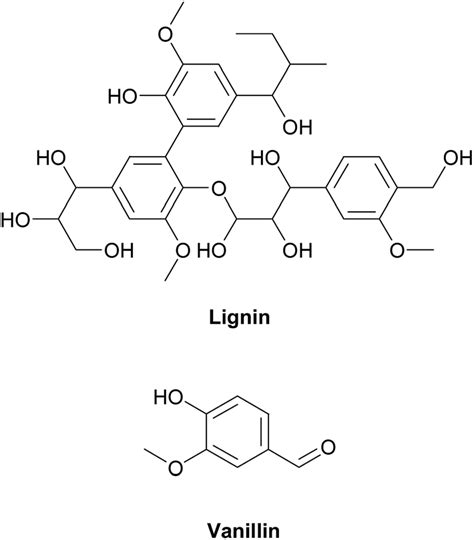 chemical structures  lignin  vanillin