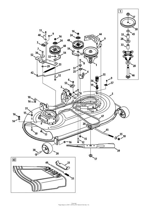 mtd 13am775s058 2014 m155 42 2014 parts diagram for