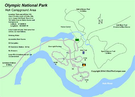 olympic national park trail map olympic national park cground maps