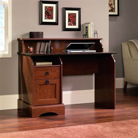 sauder computer desk wood home office furniture with 2