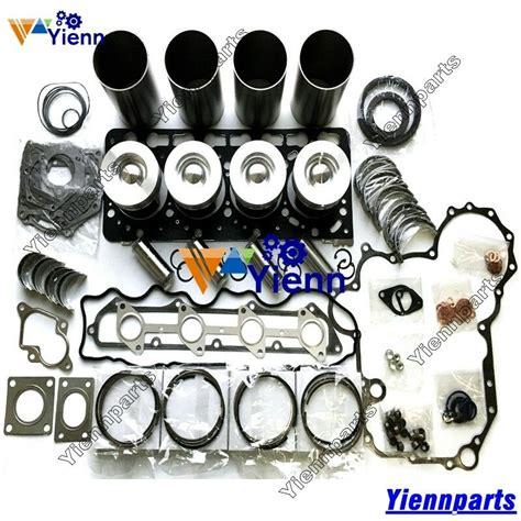 overhaul rebuild kit  kubota engine piston ring gasket set ebay