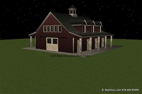 horse barn plans with living quarters 5 stalls 3 horse barn plans with living quarters 5 stalls 3