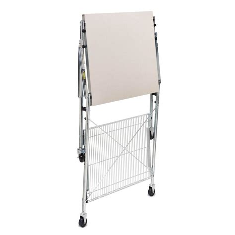 Stainless Steel Folding Table Honey Can Do Stainless Steel Folding Table Tbl 01566 The Home Depot