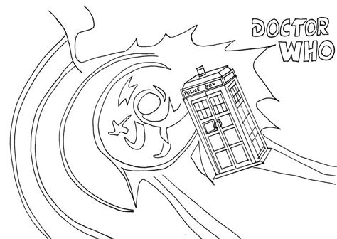 dr who coloring book tardis coloring page coloring pages lineart doctor