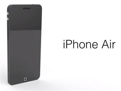 Iphone Air new iphone air concept features 4 6 inch retina display color customization and new