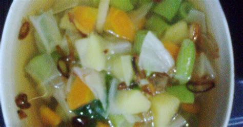 sayur sop  resep cookpad