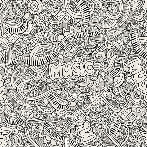 pattern in sketch 3 hand drawn doodles music illustration on behance