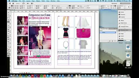 tutorial indesign jornal indesign tutorial 2 page magazine spread fashion works
