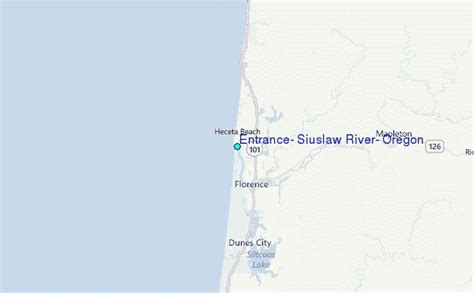 Tide Tables Florence Oregon by Entrance Siuslaw River Oregon Tide Station Location Guide