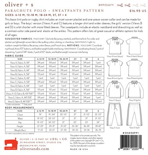 pattern review oliver s oliver s os050pp parachute polo and sweatpants