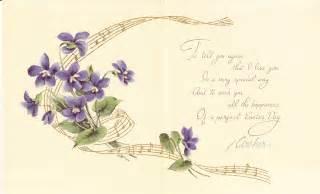 Easter flowers illustrated victorian poem for easter time girl