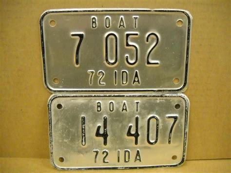 idaho boat license purchase idaho boat license plates 1972 motorcycle in