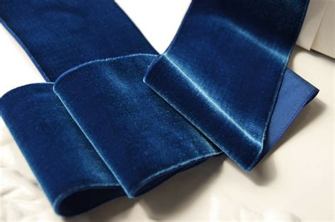 Upholstery Ribbon by Royal Blue Wide Velvet Ribbon 72mm