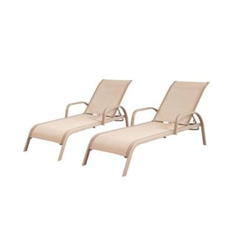 Commercial Chaise Lounges hton bay westin commercial sling patio chaise lounge 2 pack 13h 007 cl2 sb the home depot