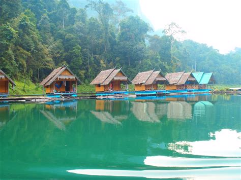 bungalow water thailand the floating bungalows cheow lan lake khao sok thailand