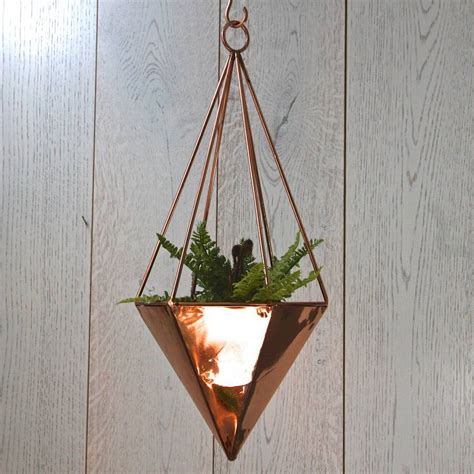Copper Hanging Planter by Copper Geometric Hanging Planter By Garden Trading