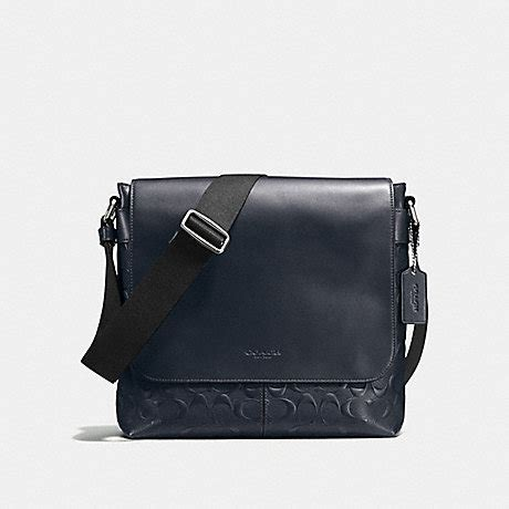 Coach Crossbody Midnight 2 coach f72220 charles small messenger in signature crossgrain leather midnight coach