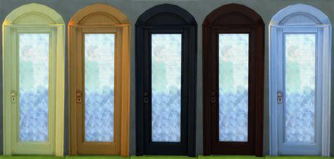 Arch Glass Door Hinayuna S Sims 4 Cc Arch Glass Door