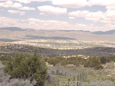Elko County Records Photo View Of Elko From Elko Summit