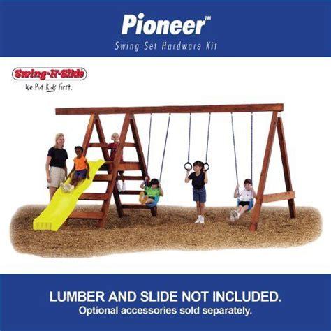 swing set kit with slide pioneer custom diy play set hardware kit by swing n slide