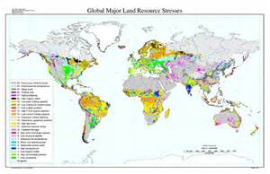 resource map of global major land resource stresses map nrcs soils