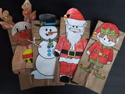 christmas paper bag puppets teaching resources