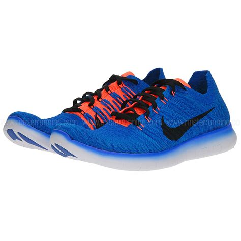 blue and orange running shoes nike free rn flyknit s running shoes blue orange