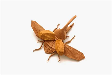 Origami Hercules Beetle - this week in origami autumn dinosaur edition