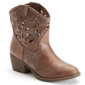 so ankle boots so s cutout western ankle boots from kohl s