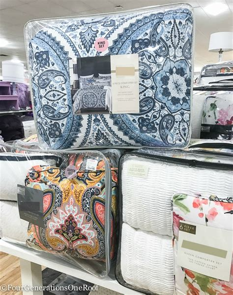 homegoods bedding shopping for a blue master bedroom makeover