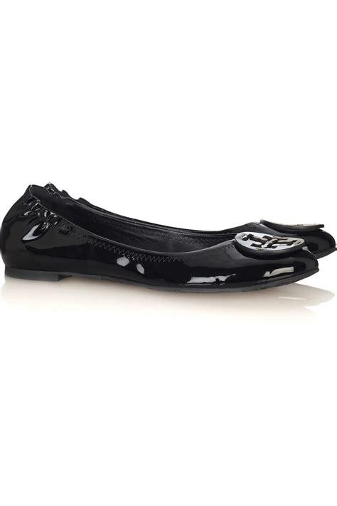 patent leather flats burch reva patent leather ballerina flats in black lyst