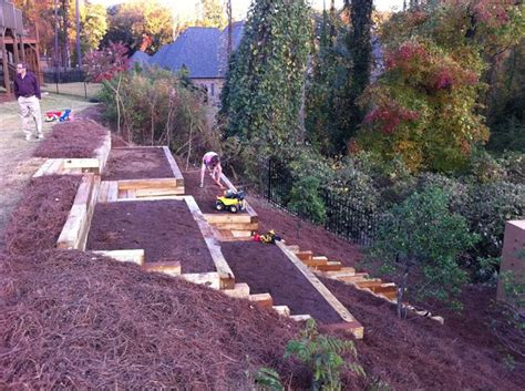 Backyard Slope Landscaping Ideas Gardening On A Slope Hillside Container Gardening Ideas