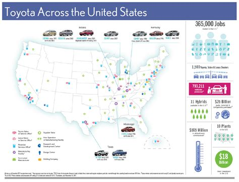 toyota united states toyota across the united states graphic omitted source